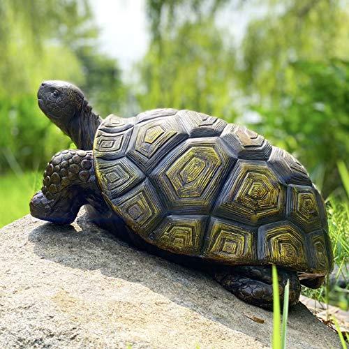 CYA-DÉCOR Garden Statues Turtle Outdoor Decoration, Resin Tortoise Figurine Ornament, 21.3 Inch Long Animal Yard Statues…