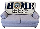 US Air Force - Home Emblem - Personalized - for Back of Couch or Sofa - Cotton Woven Blanket Throw - Made in The USA (61x36)