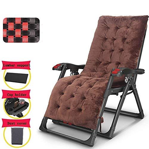 AI LI WEI Thuis buiten/Vouwstoel, Zero Gravity Massage stoelen met armleuningen Draagbare Verstelbare Recliner Beach Garden fauteuil met kasten en hoofdsteun Lichtgewicht Camping Stoel