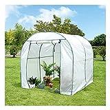 WXJ Mini Invernadero para Interiores Y Exteriores, Cubierta Impermeable Duradera Blanca, Mini Invernadero Portátil Arqueado para Jardín, Patio, Hogar, Patio Trasero
