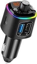 LUFT(ルフト) FMトランスミッター Bluetooth5.0 高音質 (Quick Charge3.0搭載) iphone 急速充電 車 シガーソケット USB「1年保証」