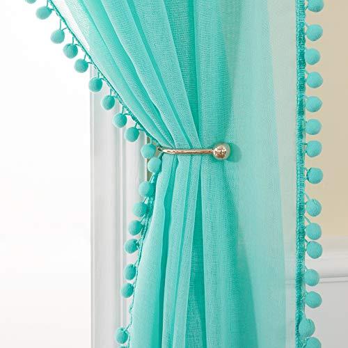 cortinas comedor turquesa