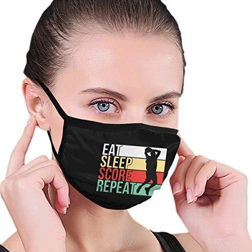 Eat Sleep Score Repeat volwassenen Kids Graphics comfortabel wasbaar herbruikbare oorwarmer sjaal buissjaal mondbescherming