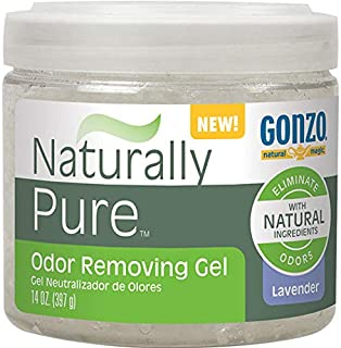 Gonzo Natural Magic Naturally Pure Odor Removing Gel - 14 Ounce - Works On Pet, Smoke, Trash, Kitchen, Closet, Bathroom Odors
