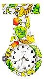 Ellemka JCM-2102 - Reloj Enfermera Fob de Bolsillo Clip Médico Medicina y Enfermería Analógico Funcional Cuidado-s Hospitalario-s Quarz Cuarzo Correa Estilo - Cute Bugs