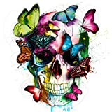 Adarl 5D DIY Full Diamond Painting Rhinestone Pictures of Crystals Embroidery Kits Arts, Crafts & Sewing Cross Stitch (Skull with Butterflies)