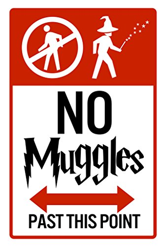No Muggles Past This Point Sign Poster 12x18