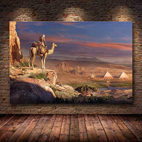 Sin Marco Cuadros 40X50Cm - Assassin'S Creed Odyssey Origen Poster Decoración Pintura sobre Lienzo De Alta Definición Lienzo Pintura Arte Carteles E Impresiones,Wkh-370-1