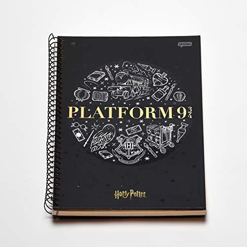 Caderno Espiral Capa Dura Universitário 10 Matérias Harry Potter Platform 9 FSC 200 Folhas, jandaia