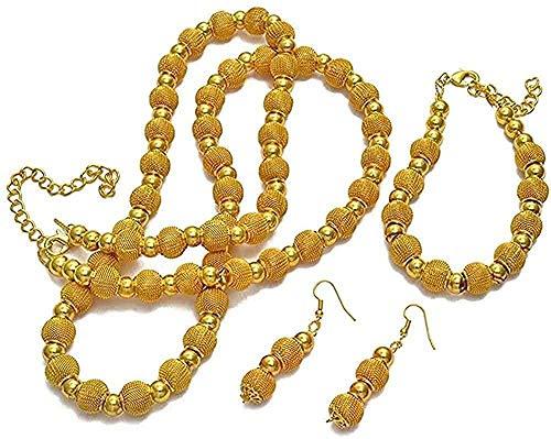 Aluyouqi Co.,ltd Collar Collar Collar De Perlas De 82 Cm Y Pulseras De 24 Cm Y Pendiente De Bola para Mujer