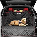 Pet Boot Liner Protector, 4 Layers Quilted Waterproof Machine Washable & Nonslip Backing with Bumper Flap Protection- for Cars, Trucks & SUVs