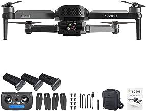 SG908 Drone Gimbal de 3 eixos com câmera 4K 5G GPS WIFI FPV RC QuadcopterBlack3 * baterias (3*batteries, Black)