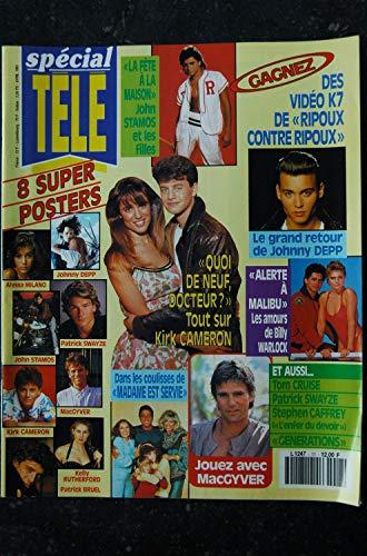 SPECIAL TELE n° 11 1991 8 Posters ALYSSA MILANO PATRICK SWAYZE JOHNNY DEPP KELLY RUTHERFORD MADAME EST SERVIE ALERTE A MALIBU
