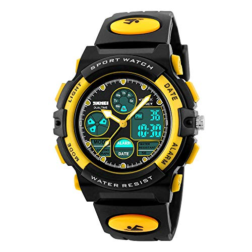 Kids Watch, Boys Sports Digital Waterproof Led Watches with Alarm Wrist Watches for Boy Girls Children Watch F