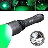 VASTFIRE Hunting Light 1000 Lumen Bright CREE Green LED Flashlight for Bow Hog Rabbit Coyote Pig Varmint Predator Night...