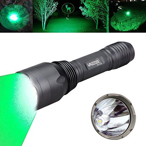 VASTFIRE Hunting Light 1000 Lumen Bright Green LED Flashlight for Bow Hog Rabbit Coyote Pig Varmint Predator Night Fishing (Gray)