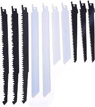 X-BAOFU, 10pcs Hojas de Sierra Sable Sierra de Sable Combo de Madera y Metal for Bosch Makita R1021L R644D R622BF R922BF (tamaño : 1/2 Inch)