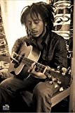 1art1 Bob Marley - Sepia, Gitarre Poster 91 x 61 cm