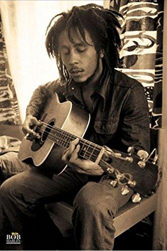 1art1 Bob Marley - Sepia, Guitar Póster (91 x 61cm)