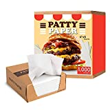 Hamburger Patty Paper, Restaurant-Grade Wax Paper Squares, Burger Press Paper (1,000 COUNT), 4.75x5' Non-Stick Deli Wax Paper - Easily Separate Ground Beef Burger Patties, Oven/Microwave/Freezer Safe