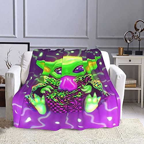 Hongfeimaoyi Ba_By Poster Yo_Da Walker Decke Komfort Wärme Weich Gemütlich Klimaanlage Decke 3D Druck Decke Alle Jahreszeiten Für Bett Sofa Couch Auto 127,7 x 101,6 cm