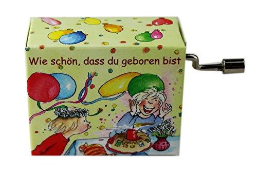"""Spieluhr """"Wie schön, dass du geboren bist"""" von Rolf Zuckowski - Schönes Geschenk für Musiker"""