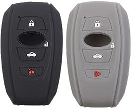 2Pcs XUHANG Sillicone key fob Skin key Cover Remote Case Protector Shell for 2016 2017 Subaru Forester Sti 2017 Outback 2014-2017 BRZ 2015 2016 XV Crosstrek Impreza 2016 WRX smart remote red black 4350450403