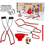 Digyssal Canning Kit Canning Supplies Canning Funnel, Jar Lifter, Jar Wrench, Lid Lifter, Canning...