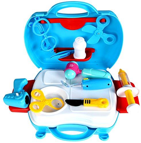 YIER Jouer aux Jouets pour Enfants Jouer au Jeu de Docteur pour Jouer au bébé Jouet Médecin Kit médical Tout-Petit