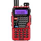 Baofeng UV-5R Plus - Walkie-Talkie VHF/UHF (2 m/70 cm, Radio), Color Rojo