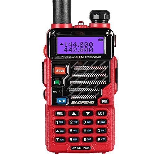 Baofeng - Walkie-Talkie VHF/UHF, 2 m/70 cm, Radio, UV-5R Plus, Color Rojo