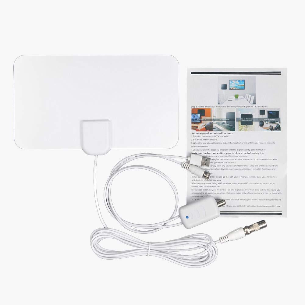 xuanyang524 Antena de TV de Alta definición para Interiores con amplificación Digital de hasta 1200 Millas de Alcance, Amplificador de señal de Amplificador Compatible con Canales de HDTV 4K Standard: Amazon.es: Hogar