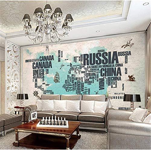Alfabeto Wandbehang, vintage, behang, wandbehang, landkaart, grote sofa, bed, tv, achtergrond, behang, retro behang_400cm(w) x250cm(h)(13'1