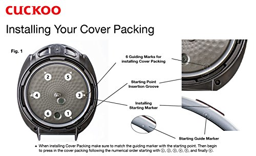 Cuckoo Pressure Cover Packing Replacement Ring   CCP-10