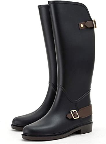 ZJOUJ Stiefel de Lluvia- Stiefel de Lluvia de Goma Antideslizantes Estudiantes, Stiefel de Lluvia Impermeables de Moda para damen
