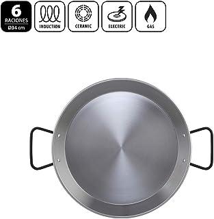 Metaltex - Paellera Acero Pulido INDUCCION 6 Raciones 34 cm