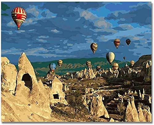 Diy Digitales Gemälde Tot Luftballon Bilder Malen nach Zahlen Diy Digital Türkei Stil Wand Öl Leinwand Kunst Färbung nach Zahlen Kunstwerk Geschenk