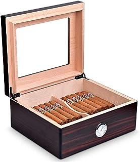 Humidors Cigarrcigarettlåda Cigarrlåda med hygrometer