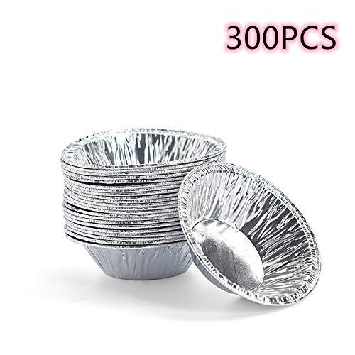 3 Inch Wegwerp Aluminium folie Mini Ei Taart/Taart Vaat/Taart Schaal Bakvorm, Ei Taart, Taart blikjes Bakbenodigdheden 300 Per Pack