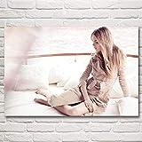 Leinwand Cara Delevingne Frau Modell Kunst Poster Drucke
