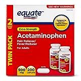 Equate - Acetaminophen 500 mg, 200 Caplets