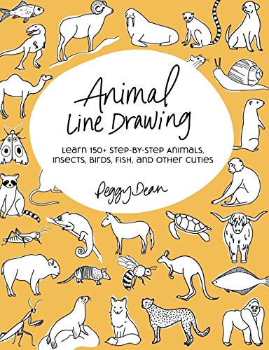 Animal Line Drawing: Learn 150+ Step-by-Step Animals, Insects, Birds, Fish, and Other Cuties