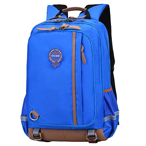 Kids Backpack for School Waterproof Lightweight Bookbag for Children Elementary School Bags for Boys (Sky blue)