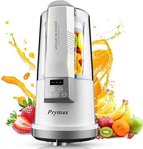 PRYMAX Table Blender, Vacuum Smoothie Maker with Glass Jug - Electric Mixer and Liquidiser - 8 Speed Settings, 500W - Ideal for Milkshakes, Ice Crusher, Soup, Fruit Blender and Cocktail Maker