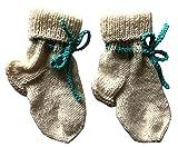 Warme Kinder Socken Größe 19-21 | Weiße Wollsocken | Handgestrickt | für Mädchen und Jungen | Babysocken | Stricksocken