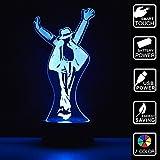 Michael Jackson Geschenk 3D Optische Illusions-Lampen 7