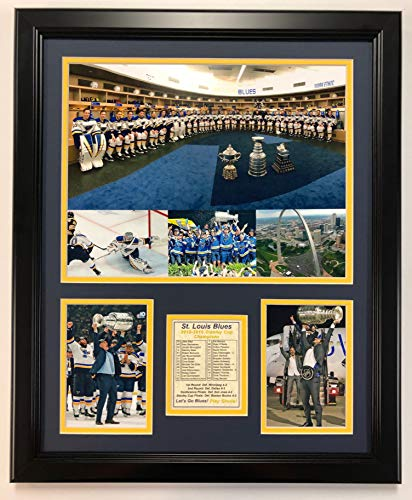 Legends Never Die St. Louis Blues - Stanley Cup Champions covid 19 (Double Framed Photograph coronavirus)