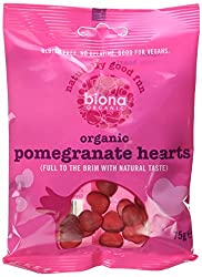 Pomegranate Heart Sweets - Org 10 x 75g Pomegranate Heart Sweets - Org 10 x 75g