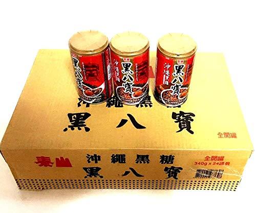泰山牌沖縄黒飴八宝粥【24缶セット】 黒糖味ハッポウカユ 台湾超人気商品・台湾風味名物 340gX24缶