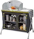 Berger Küchenbox Pablo mit Spüle 99 x 85 x 47 cm Faltbarer Beistelltisch Alu Faltschrank grau